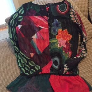 Desigual sheer printed blouse